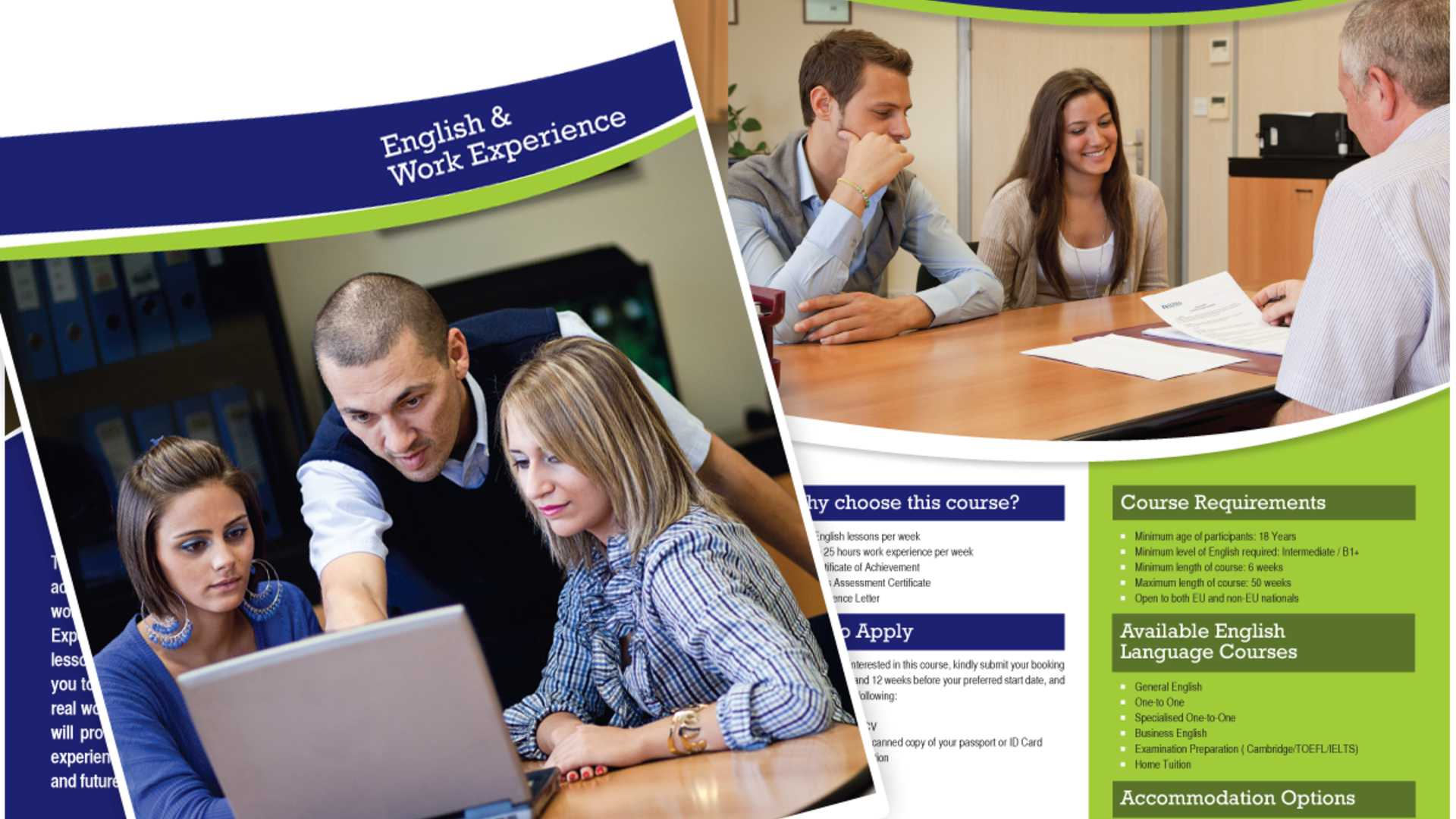 English & Work Experience Brochure